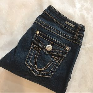 LA Idol Rhinestone Embellished Jeans Sz 9